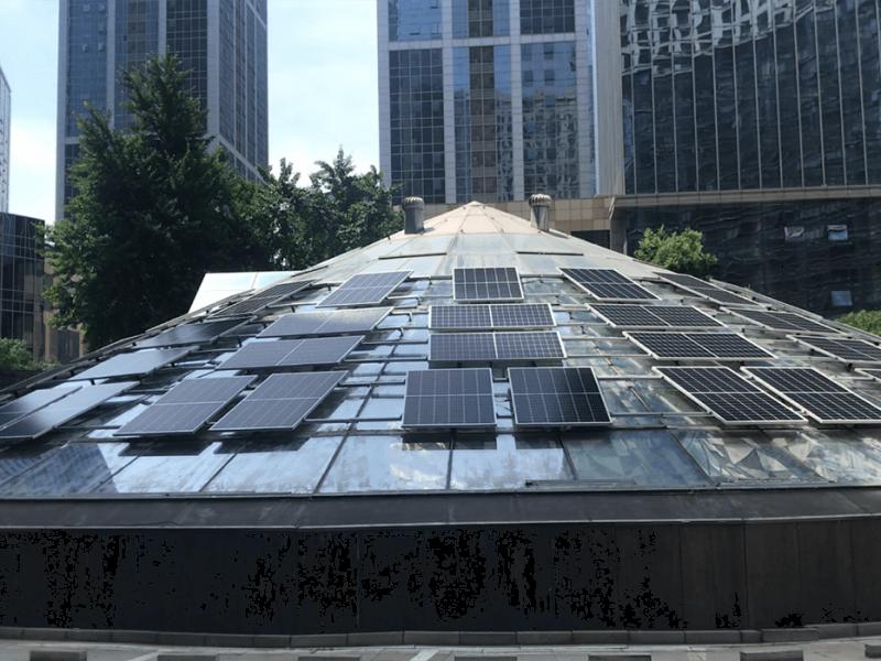 沈阳财富中心17KW自发自用系统